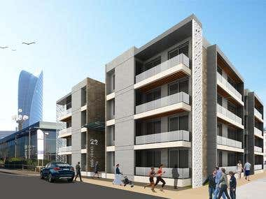Design Concept for Luxury Apartments, in Auckland, NZ.