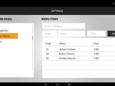 InfiKOT restaurant tablet App