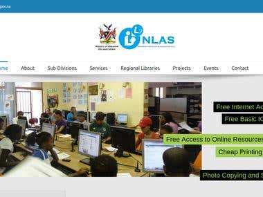 Namibia Library Service Website