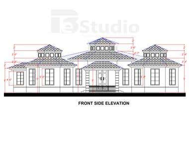 Full Architectural plans of a house projects