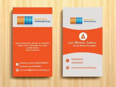 Design a vertical (two sides) + horizontal Business Cards
