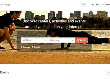 Web Portal for Fitness & Sports