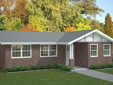 Real Estate house rendering
