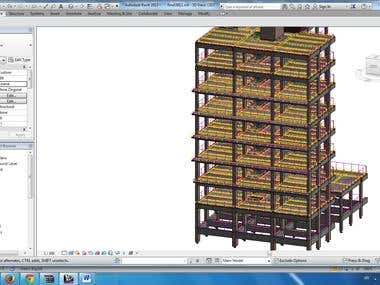 Modeling Building by Structural Revit .