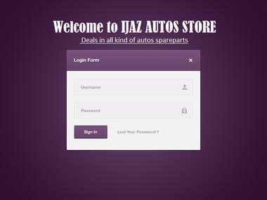 Management System for Auto\'s Store
