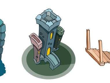 Cartoon Objects Vector Illustration