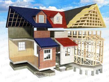 3d house cut
