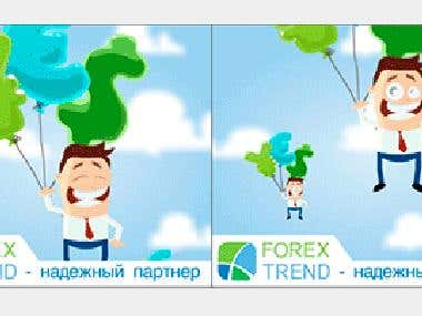 Flash banner for Forex Trend company