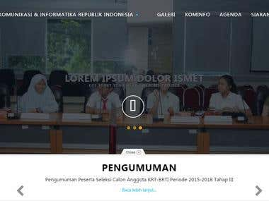 Redesign Website htp://kominfo.go,id