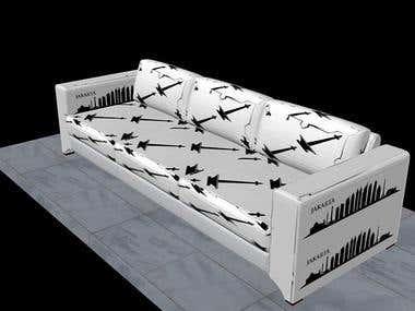 3D Furniture Design (Monas Sofa)