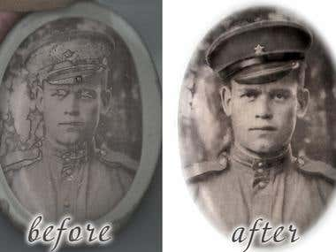 Restoration old photographs