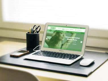 Website Design Mockup for a company