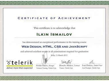Front-End Developer Certificate