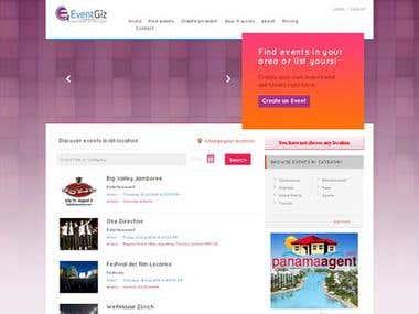 Event Provider Website