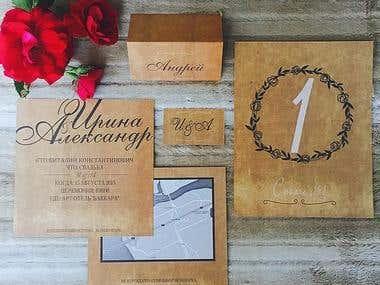 Design and printing of wedding invitation