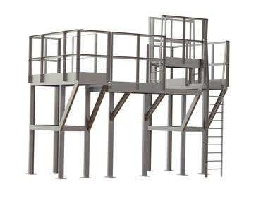 Steel platform (The model made in SOLIDWORKS software)
