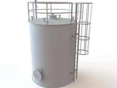 Tank (The model made in SOLIDWORKS software)