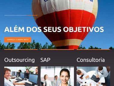 Wordpress website (www.meta.com.br)