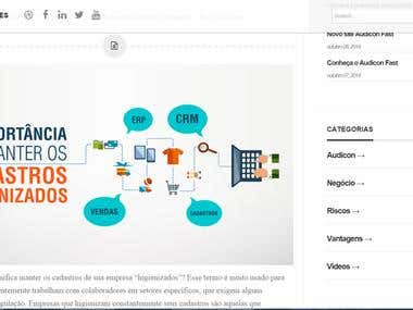Wordpress blog (design, css, html)