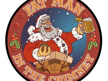 Fat Man in the Chimney - Beer Logo