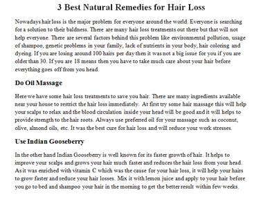Best Natural Remedies for Hair Loss