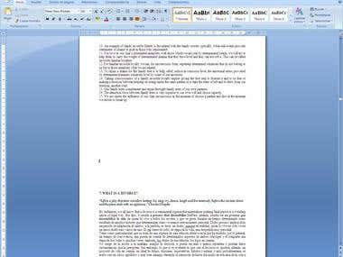 Translation of an E-book form Spanish to English.