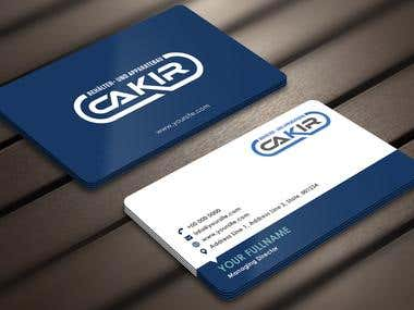 Design of a Businesscard and a letterhead for the Company CA