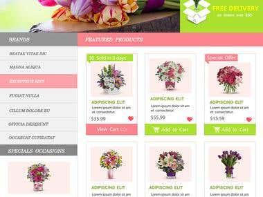 Work Sample of Homepages