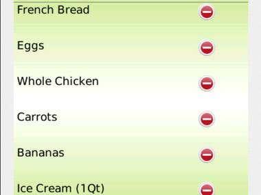 BlackBerry - My Grocery List