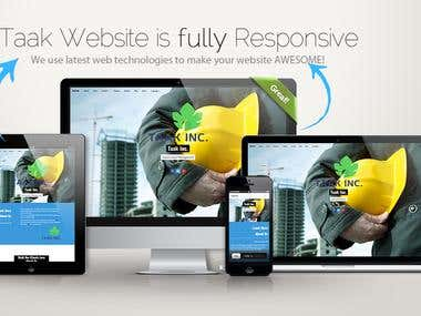 Taak Construction Company Website