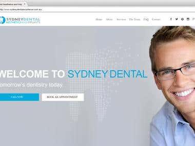 Dentist Website Development