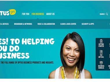 Telecom company website