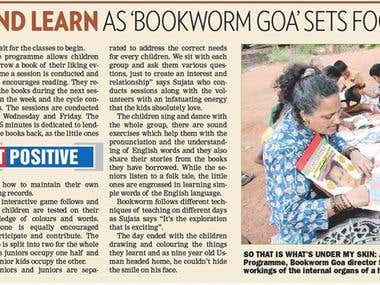 Kids dance and learn as Bookworm Goa sets foot in Margao.
