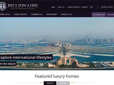 Billionaire website design