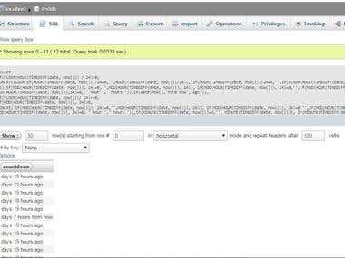 Create a MySQL Countdown String