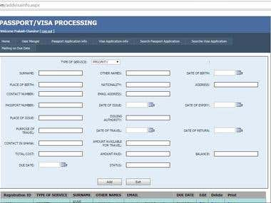 Ghana passport processing web application