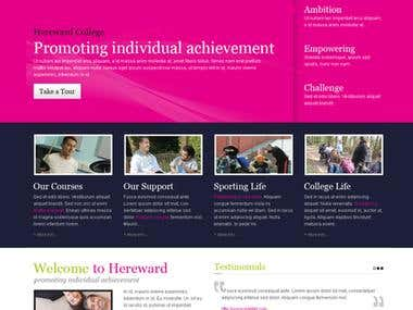 college webdesign