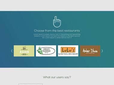 Website on Restaurant business