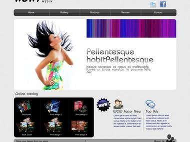 Media website design