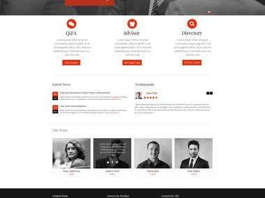 Home page - web design