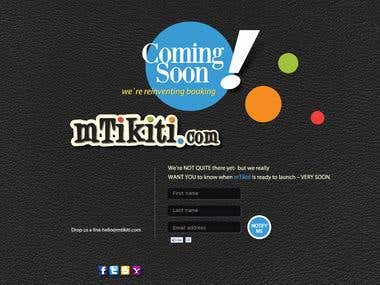 Landing Page for Mtikiti