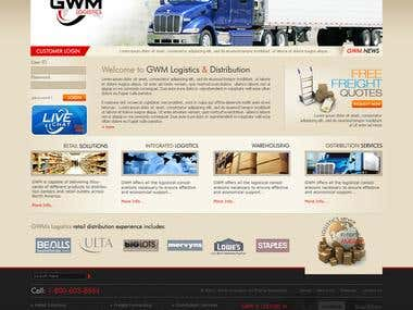 Web Design : Gwm logistics