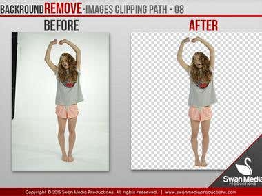 Image Background Remove / Clipping Path / Photoshopping
