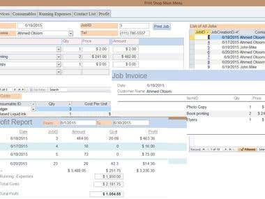 Print Shop Accounting System