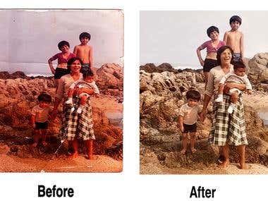 Image editing - reconconstruction of  a old image