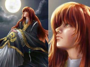 "Fanart painting: \""Twelve Kingdoms\"""