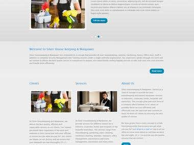 Silver House Keeping - A Website built in Drupal