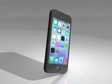 Apple iPhone 5s - Product visualization