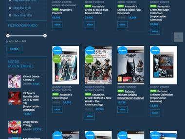Pagina de videojuegos