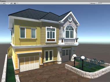 Home lowpoly modeling For  Games